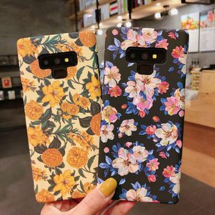 Retro oil painting flowers Samsung s10plus Huawei mobile phone shell glory 20 luminous water stickers s9 Phone Case wholesale NHDV211728's discount tags