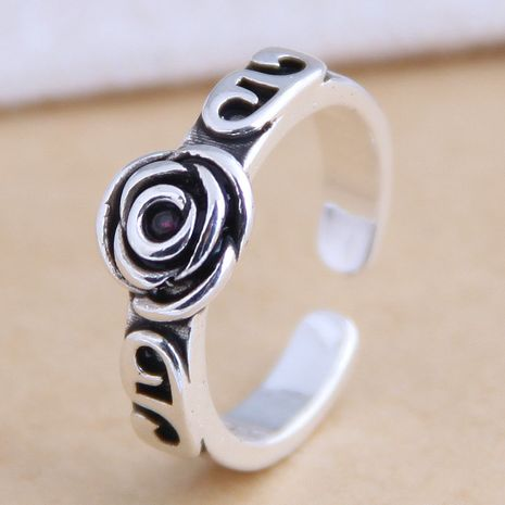 New fashion retro rose open ring yiwu nihaojewelry wholesale NHSC212274's discount tags