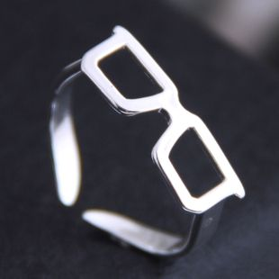 Korean new fashion sweet OL glasses frame open ring yiwu nihaojewelry wholesale NHSC212280's discount tags