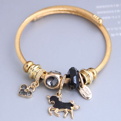 New fashion simple horse pendant multi-element accessories bracelet yiwu nihaojewelry wholesale NHSC212295's discount tags