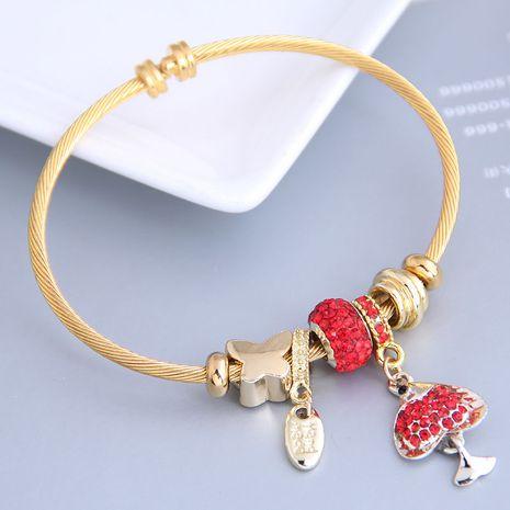 New fashion simple flash diamond cartoon fish pendant multi-element bracelet yiwu nihaojewelry wholesale NHSC212294's discount tags