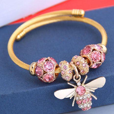 New fashion simple flash diamond bee pendant multi-element accessories bracelet yiwu nihaojewelry wholesale NHSC212293's discount tags