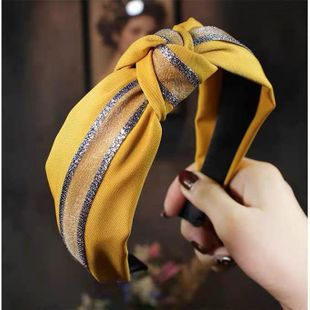 Korean new fashion simple stitching knotted wide-brimmed hairband yiwu nihaojewelry wholesale NHSC212292's discount tags