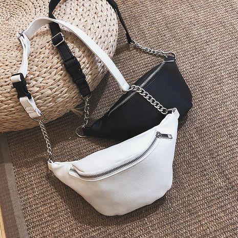 The new trendy Korean fashion one-shoulder messenger mini waist bag wholesale NHGA211944's discount tags