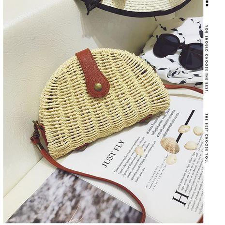 Coquillage paille sac nouveau papier corde tissé rétro sac de plage femme bandoulière rotin sac de plage en gros NHGA211982's discount tags