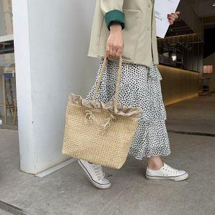 New fashion wave large capacity large bag beach seaside holiday handmade rattan straw bag NHGA211986's discount tags