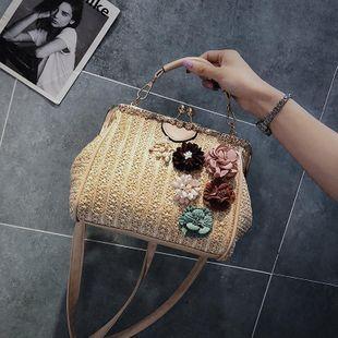 Korean new summer straw handbags handbags wholesale NHGA211989's discount tags
