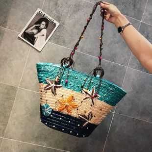 Summer new fashion handbag shoulder bag Korean fashion messenger bag wild straw bag wholesale NHGA211990's discount tags