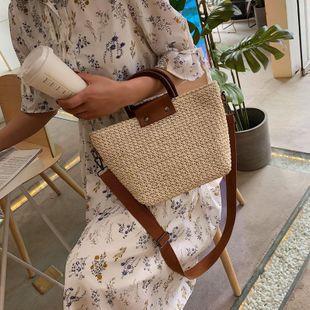 New Straw Bag Korean Handbag Shoulder Bag Fashion Large Capacity Crossbody Beach Bag Wholesale NHGA211994's discount tags