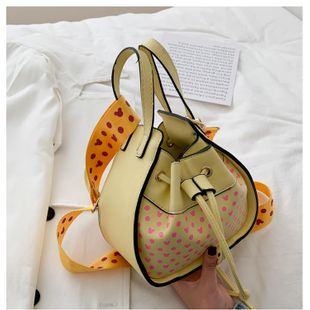 New fashion shoulder messenger bag texture simple drawstring casual bag wholesale NHTC212054's discount tags
