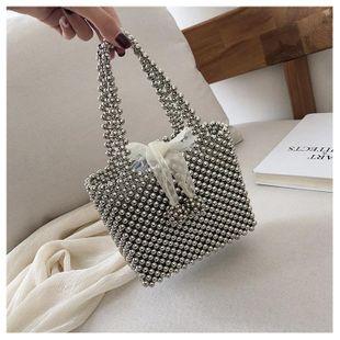 New trend fashion wild handbag metal bag wholesale NHTC212055's discount tags