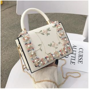 Summer new Korean fashion wild lace messenger chain shoulder small square bag NHTC212060's discount tags