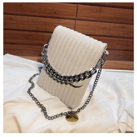 Bolso de la cadena del teléfono móvil de la cadena de Lingge nuevo bolso diagonal del hombro de la moda salvaje del color sólido NHTC212063's discount tags