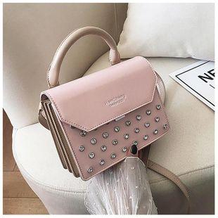 Summer new fashion single shoulder diamond crossbody bag wholesale NHTC212065's discount tags