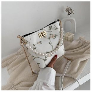 New fashion imitation pearl bucket bag wholesale NHTC212066's discount tags