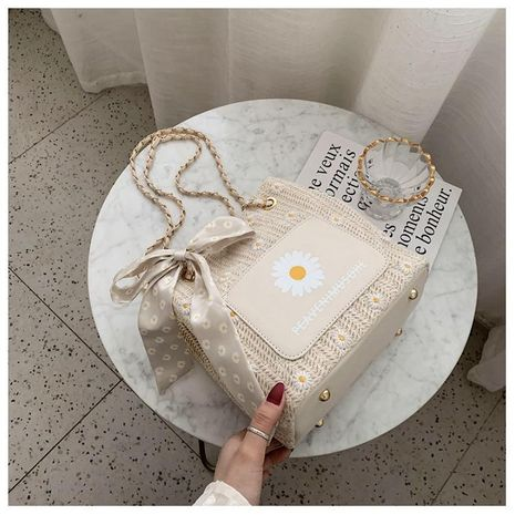 El nuevo bolso de cubo de cadena de bolso de bandolera de paja salvaje de moda al por mayor NHTC212077's discount tags