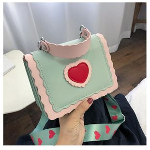 The new Korean fashion hits the color the wild small square bag fashion shoulder messenger handbag NHTC212085's discount tags