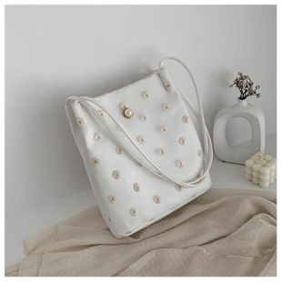 New fashion lace flower bucket bag simple casual wild shoulder bag wholesale NHTC212088's discount tags
