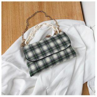 Wild mini bag new Korean fashion wild lattice crossbody bag chain chest bag wholesale NHTC212092's discount tags