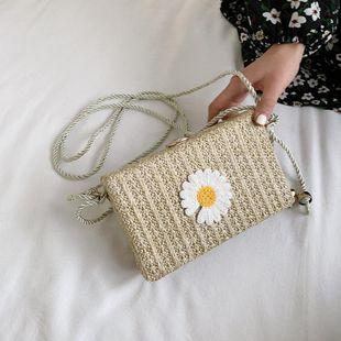 New trendy Korean fashion wild messenger bag straw shoulder bag wholesale NHTC212094's discount tags