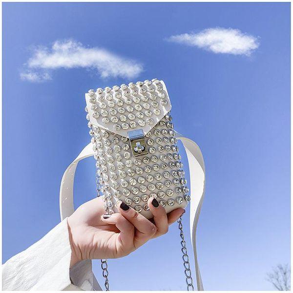New trendy Korean fashion wild diamond crossbody bag fashion girl mobile phone small shoulder bag wholesale NHTC212100