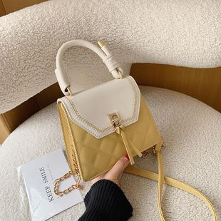 New spring fashion wild diamond single shoulder messenger bag lock chain handbag NHPB212155's discount tags