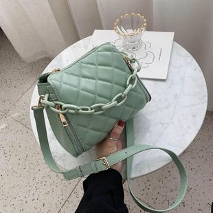 New fashion rhombus shoulder bag wild small fragrance crossbody bag chain bucket bag wholesale NHPB212175's discount tags