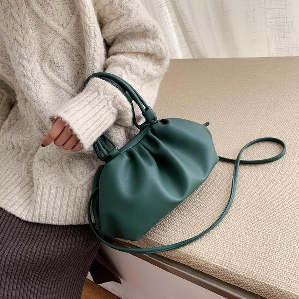 New fashion cloud bag soft leather wild shoulder messenger bag wholesale NHPB212234