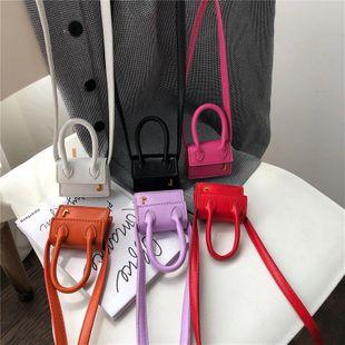 Small capacity bag new fashion handbag solid color casual wild one-shoulder messenger mini bag wholesale NHPB212238's discount tags
