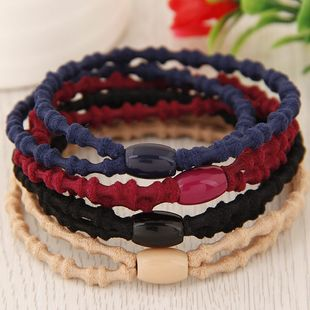 Korean new fashion sweet and simple double strips scrunchies yiwu nihaojewelry wholesale NHSC212255's discount tags