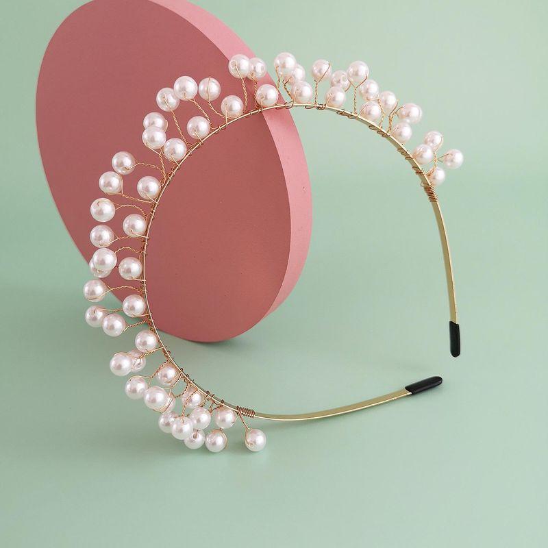 New Fashion Pearl Hair Accessories Wedding Hair Band Wholesale Bride Handmade Headdress NHJJ212332