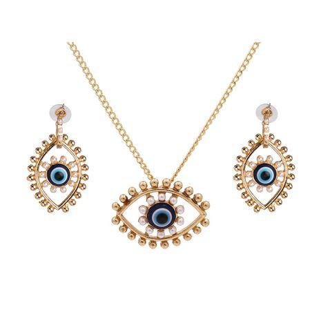 Nouveau mode oeil de diable collier boucles d'oreilles en gros nihaojewelry NHJJ212334's discount tags