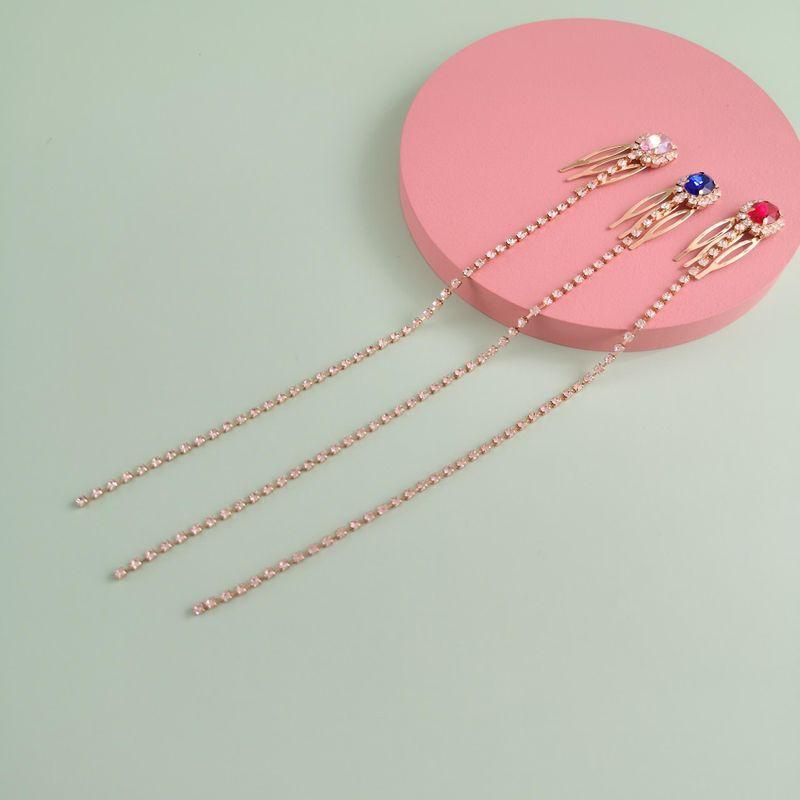 New fashion rhinestone tassel cheap hairpin wholesale NHJJ212338