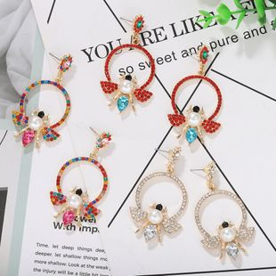 New fashion super flash diamond bee insect boho earrings for women NHJQ212339's discount tags