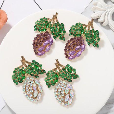 New fashion diamond earrings sweet fruit earrings for women NHJQ212343's discount tags
