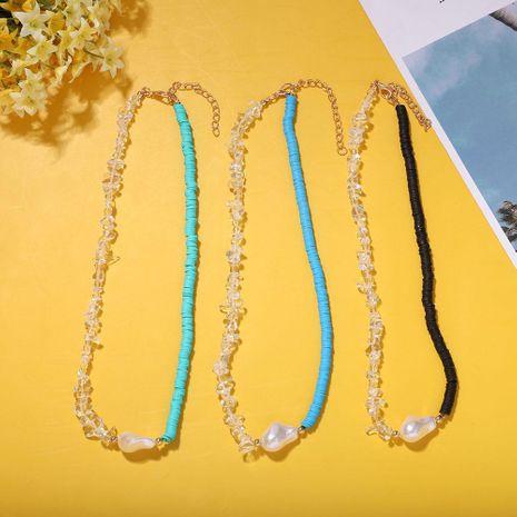 Bohème vacances style couleur correspondant artificielle cristal perle fruit tissé collier en gros NHJQ212363's discount tags