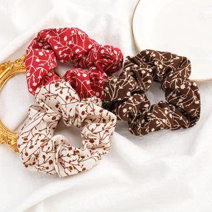 Korean new simple elegant flower branch printing cheap scrunchies wholesale NHJE212376's discount tags