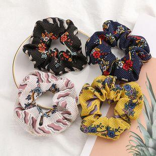 Korean fashion flower print cheap scrunchies wholesale NHJE212377's discount tags
