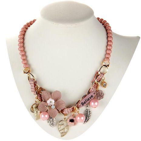 Nouvelle mode exotique fleur alliage collier exagéré créatif pull chaîne pendentif NHLN212388's discount tags