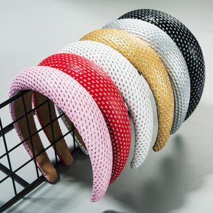 Simple sponge thickened wide-brimmed headband super flash dance party headband wholesale NHLN212392's discount tags