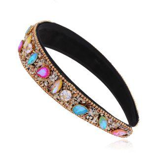Vintage headband palace style diamond-set broadside cheap headband wholesale NHVA212419's discount tags
