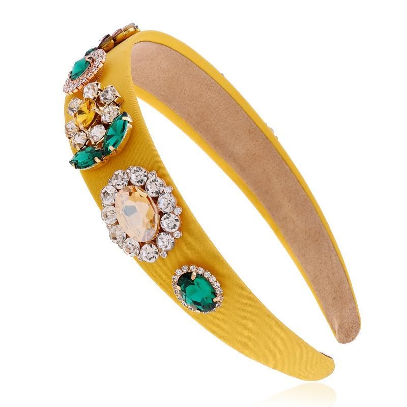 New fashion wide-brimmed simple crystal diamond cheap headband wholesale NHVA212422