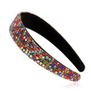 Korean new fashion headband wild retro hair accessories wide-brimmed color diamond cheap headband wholesale NHVA212426's discount tags
