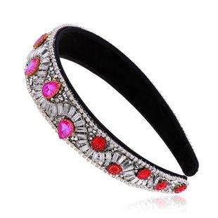 Korean new fashion retro diamond drop water headbands nihaojewelry wholesale NHVA212427's discount tags