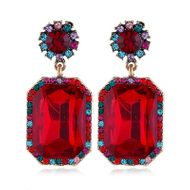 New fashion jewelry earrings retro exaggerated large gemstone earrings wholesale NHVA212433