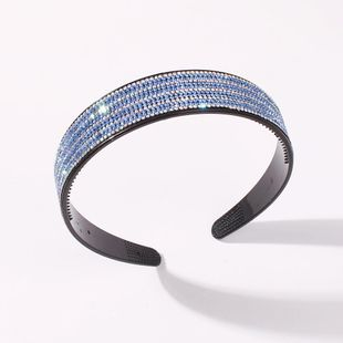 Korean new fashion wide-brimmed full drill headband creative fashion toothed non-slip cheap headband wholesale NHMD212446's discount tags