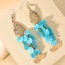 New fashion alloy earrings creative shell geometric fishshaped long tassel earrings NHMD212449