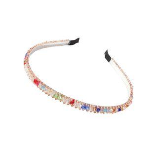 Korean new fashion crystal headband creative color rice beads fine-edged cheap headband wholesale NHMD212459's discount tags