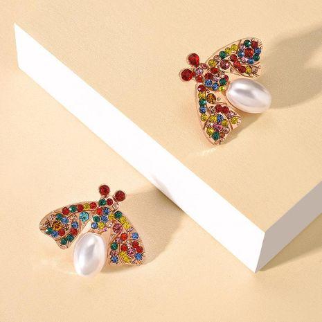 Nouveau alliage perle boucles d'oreilles mode géométrique animal abeille couleur diamant boucles d'oreilles NHMD212467's discount tags