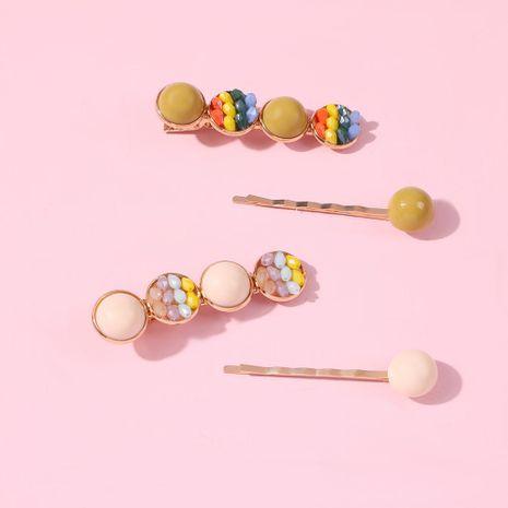 Korean new fashion rainbow crystal hairpin set wholesale NHMD212469's discount tags
